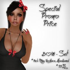 ~Pepper~ BOW set (incl: Ring, Necklace, Headband) SPECIAL PROMO PRICE