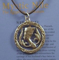 NEFERTITI PENDANT NECKLACE EGYPTIAN QUEEN NEW PEWTER | eBay