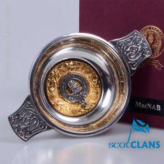 MacNab Clan Crest Quaich. Worldwide Shipping Available