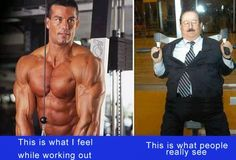 This is how boys feel when working out at the gym.