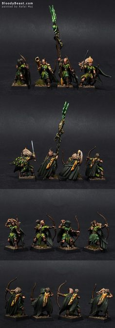 Wood Elf Glade Guards Closeups
