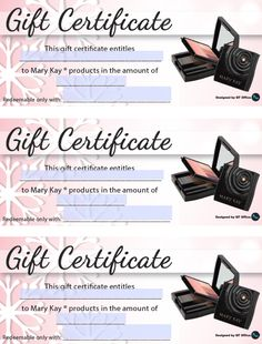 Anne Hanson Mary Kay Sales Diretor-United States Gift Certificates ...