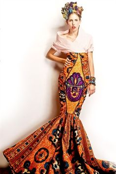 fr aime african prints ethno tendance Ankara ❤Funky African prints ~ dress by Stella Jean African Inspired Fashion, African Print Fashion, Africa Fashion, Ethnic Fashion, Fashion Prints, Fashion Design, African Prints, Ankara Fashion, African Fabric