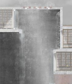 'Atmospheric section - Bath & Library' ho kai cheung Architecture Student, Architecture Drawings, Architecture Plan, Layout Design, Wall Design, Archi Images, Library Drawing, Shadow Drawing, Create Drawing