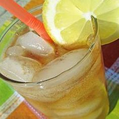 Gene's Long Island Iced Tea With Vodka, Gin, Liqueur, Rum, Cola-flavored Carbonated Beverage Carbonated Drinks, Non Alcoholic Drinks, Tea Cocktails, Party Drinks, Refreshing Drinks, Summer Drinks, Long Island Iced Tea Recipe, Iced Tea Recipes, Drink Recipes