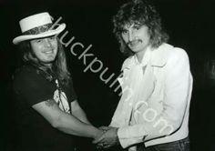 Ronnie Van Zant(Lynyrd Skynyrd) and David Byron!! I wonder when this was taken..