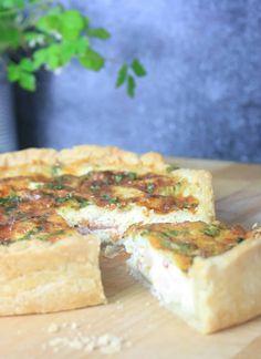 Quiche Lorraine with shortcrust pastry