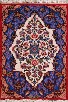 Esfahan Persian Rug, Buy Handmade Esfahan Persian Rug 2 4 x 3 4, Authentic Persian Rug $1,120.00