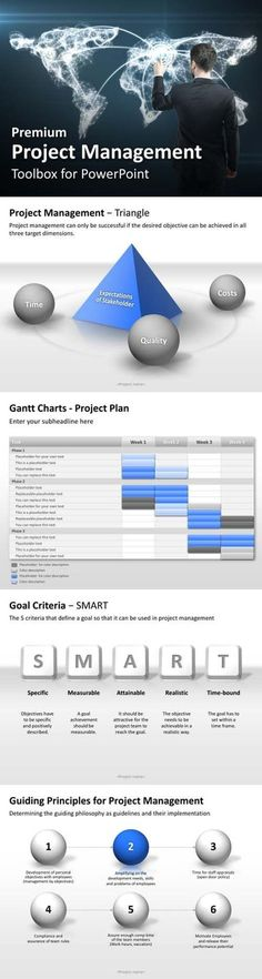 Attractive PowerPoint templates for project management in business presentations. More at our shop at www.presentationload.com