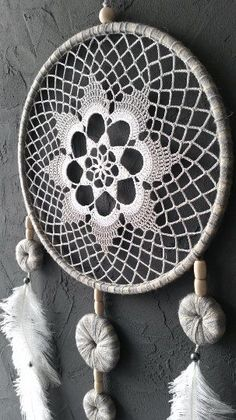 Gray White Beige Blue Dream Catcher Crochet by DreamcatchersUA crafts by month Gray White Beige Blue Dream Catcher Crochet Doily Dreamcatcher large dreamcatcher boho dreamcatchers wedding decor wall hanging wall decor Grand Dream Catcher, Blue Dream Catcher, Large Dream Catcher, Dreamcatcher Crochet, Crochet Mandala, Crochet Doilies, Doily Patterns, Crochet Patterns, Doily Dream Catchers