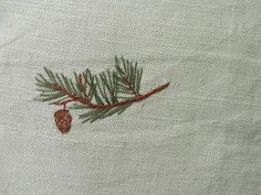 pine needle embroidery