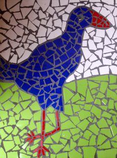 Pukeko Mosaic 95/365 « Allanah's Photo Blog Mosaic Garden, Mosaic Art, Mosaic Tiles, Mosaics, School Craft, Photo Blog, Outdoor Art, Ducks, My Best Friend