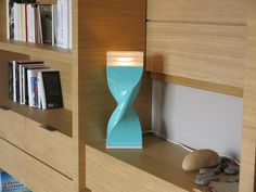 Blue twisted lamp