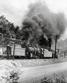 PRR steamers shoving on a coal train on the Elmira Brach