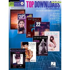 Hal Leonard Top Downloads - Pro Vocal Songbook & CD For Female Singers
