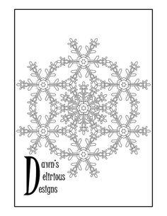 The Snowflake Design 1 Pattern Snowflake Coloring Pages, Snowflake Designs, Snowflakes, Symbols, Pattern, Etsy, Decor, Art, Stars