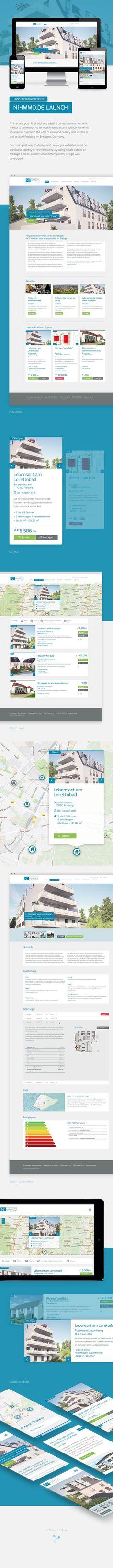 Website Design for Real Estate Company N1 Immobilien in Freiburg.   by www.ukw-freiburg.de  #WebDesign #Website #ukwfreiburg