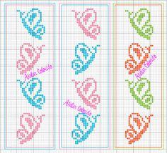 Atelier Colorido PX  Diagramme petits papillons de profil Butterfly pattern - chart