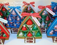 A great gift for school office workers during the holiday season-can make enough for everyone! Hershey's Christmas Tree Tutorial is great for homemade DIY last minute gifts for groups or parties, kids crafts, crafting candy for neighbors, teachers, etc.