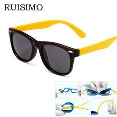 7dab94fb0ce18 3.89  Buy here - rubber frame New Children TAC Polarized Sunglasses Kids  sunglasses sun glasses