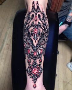 Cuff Tattoo, Gem Tattoo, Jewel Tattoo, Tattoo Henna, Cover Up Tattoos, Body Art Tattoos, Sleeve Tattoos, Tattoo Drawings, Pretty Tattoos
