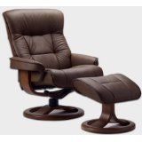 Fjords 775 Bergen Large Leather Recliner Norwegian Ergonomic Scandinavian Lounge Reclining Chair Furniture Nordic Line Genuine Sandel Light Brown Leather Cherry Wood  #MileyCyrus #NoZephyr