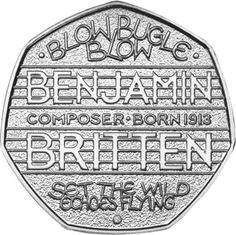 UK 2013 Benjamin Britten 50p #ChangeChecker #50p