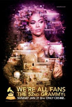 Beyonce 'We're All Fans' 52nd GRAMMY Awards Campaign