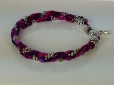 Upcycled Berry Beautiful Silk Sari Bracelet by southernbydesignllc, $34.00,  FREE SHIPPING!
