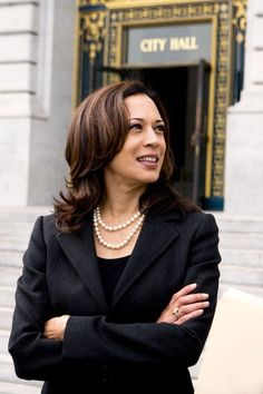 Kamala Harris - the Attorney General of California is a brilliant, beautiful Jamaican-Indian-American who doesn't leave home w/out her pearls. What's not to like?
