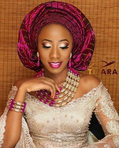 The colours are just perfect!  Makeup by @tifaramakeovers  Beads by @hrmsignaturebeads  Event planned by @vertexeventsng