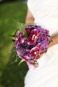 Brautstrauß flowers hochzeit blumen wedding bouquet lila orchidee pink