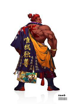Zbrush, Game Character, Character Design, Street Fighter Tekken, Street Fighter Characters, World Of Warriors, Fantasy Art Men, Arte Cyberpunk, Street Art