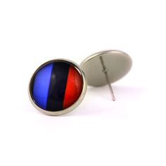 Novelty BMW logo tricolor stud earrings. BMW fan logo M earrings. Bmw M5. Personalised  jewelry  gift. BMW lovers gift. 2017. by Mysstic on Etsy