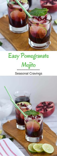 Easy Pomegranate Mojito