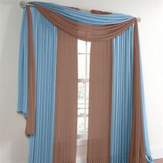 Exceptional BrylaneHome® Studio Sheer Voile Scarf Valance And Rod Pocket Panels |  Curtains U0026 Drapes