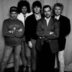 Queen and Radio 1 DJ, Mike Read, 1989.