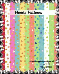 Hearts Patterns Pack II by Coby17.deviantart.com on @DeviantArt