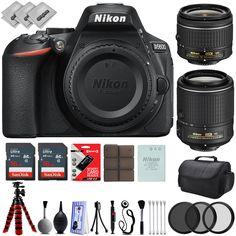 Nikon D5600 Digital SLR Camera w/ Nikon 18-55mm  Nikon 55-200mm  25PC Bundle