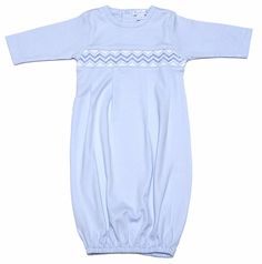 1460d379657 Kissy Kissy Baby Boys Classic Smocked Gown - Blue Layette