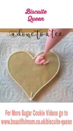 Hearts & Sprinkles Sugar Cookies by Valentine's Day Sugar Cookies, Sugar Cookie Icing, Fancy Cookies, Iced Cookies, Royal Icing Cookies, Sugar Cookies Recipe, Cookies Et Biscuits, Summer Cookies, Heart Cookies
