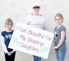 We are role models to our daughters and our self-esteem issues are an example to them. We are beautiful. We are strong. We can empower our daughters to feel the same because it is true. They are beautiful. They are strong. Who do you #FeelBeautifulFor?
