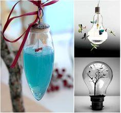 10 ideas de decoración con bombillas recicladas