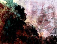 Islandskap   Elisabeth Stenseth Digital Art, Abstract, Artwork, Painting, Summary, Work Of Art, Auguste Rodin Artwork, Painting Art, Paintings