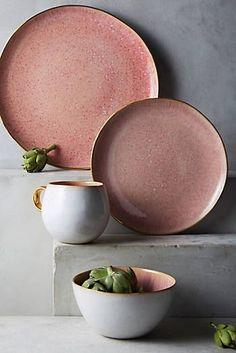 Perasima Dessert Plate by Anthropologie in Mint, Dinnerware Mug Dinner, Dinner Sets, Dinner Plates, Dinner Ware, Ceramic Plates, Ceramic Pottery, Ceramic Art, Slab Pottery, Bohemian Decoration