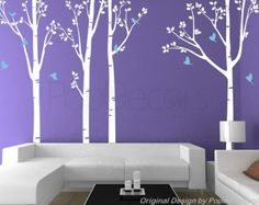 Check out Nature Tree Forest - Office Tree Wall Decals Living Room Tree Wall Decors Nature Birds Wall Decal  Free Squeegee and color change on popdecors