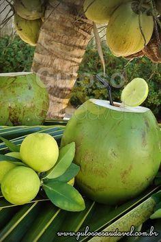 Água de Coco com Suco de Limão » Bebidas, Receitas Saudáveis » Guloso e Saudável