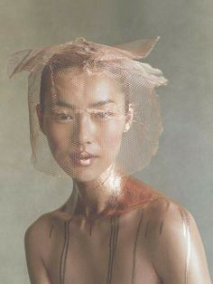 Photo by Patrick Demarchelier. Simple beauty of copper mesh.