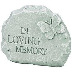 """Memorial Garden Stone - """"In Loving Memory"""""""