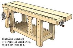 Roubo Style Workbench Plans and Benchcrafted ™ Press Components – Woodworking Source by Woodworking Bench Plans, Workbench Plans, Woodworking Tools, Industrial Workbench, Fireplace Frame, Inside Shop, Small Bookshelf, Pallet Bench, Built In Cabinets